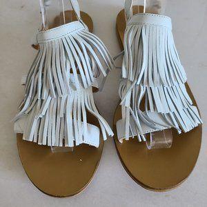 J. Crew Shoes - J. Crew leather fringe sandals